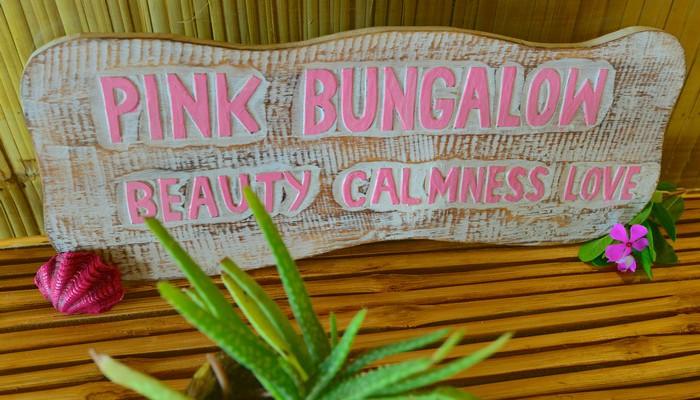 pink bungalows